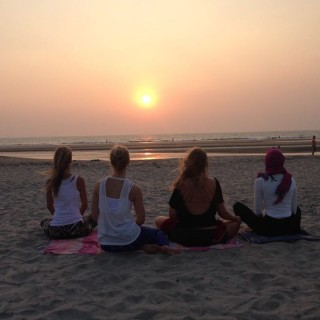 Yoga Retreat Goa - Meditation Sunset