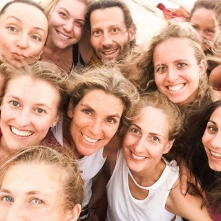 Yoga Retreat Goa - Yoga Gruppe