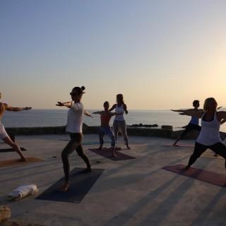 Yoga Retreat Mykonos Sunset Practice