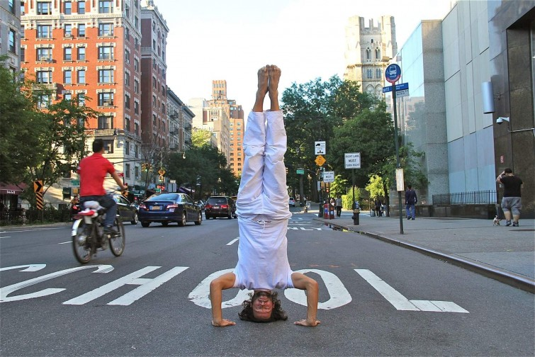 JIVA/ANAND Yoga Shala Maxvorstadt Headstand New York City Street