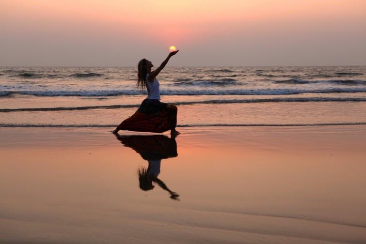 Susanne Waldmüller Sonnenuntergang Aasana in Goa