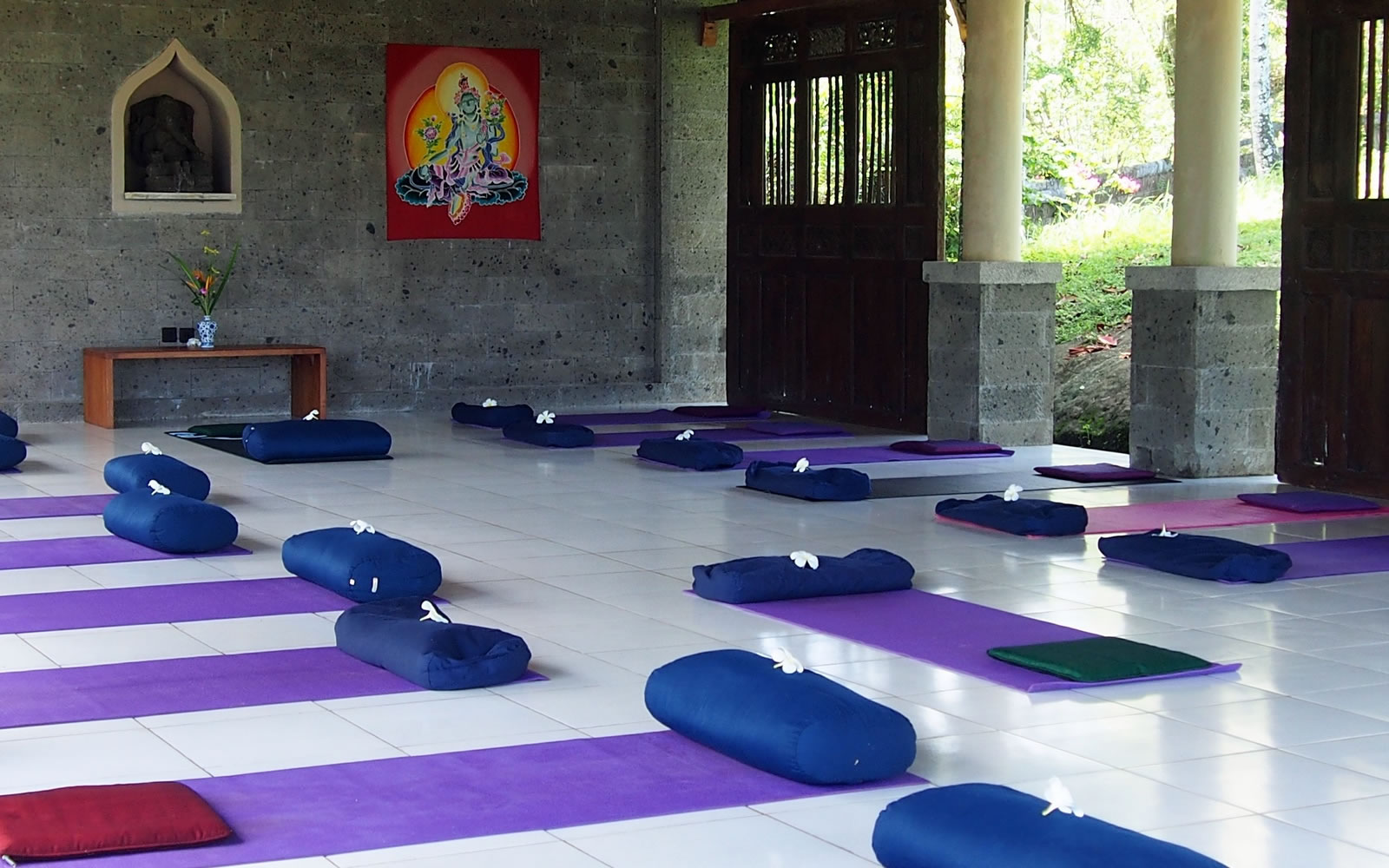 JIVA/ANAND Yoga Retreat Bali Yoga Platform